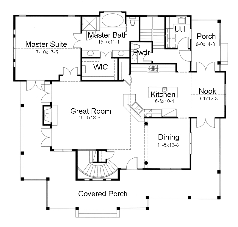 Programmi per progettare casa for One level house plans with porch