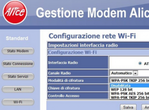 come modificare password wifi