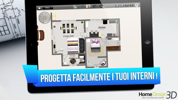 Applicazioni per arredare casa per iphone e android for Arredare casa in 3d gratis