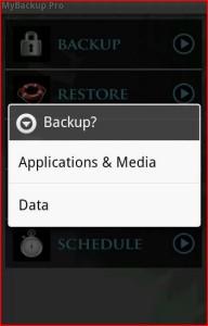 backup applicazioni android