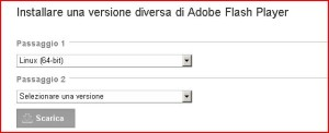 flash player ultima versione