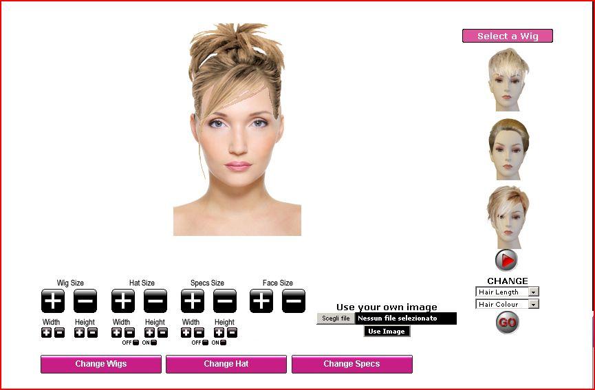Prova taglio di capelli virtuale