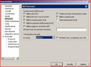 configurazione utorrent