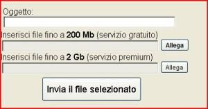 inviare file