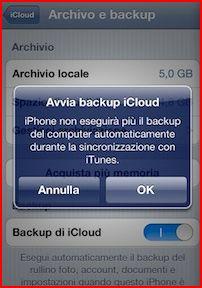 come eseguire backup iphone