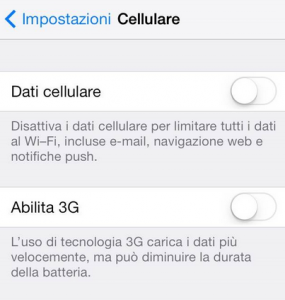 configurazione internet iphone online