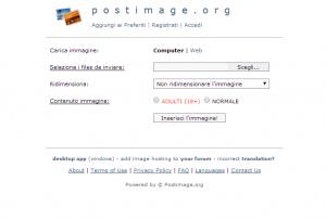 siti per hosting foto