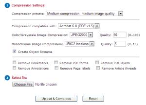 diminuire dimensioni file pdf