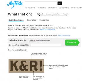 come trovare font da immagine
