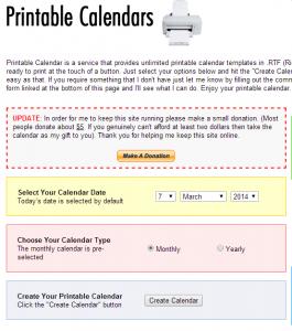 siti per calendari da stampare