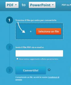 trasformare pdf in ppt