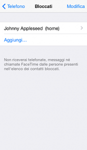 come bloccare numero su iphone