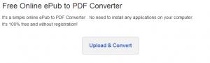 convertire epub in pdf