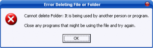 come cancellare file bloccati