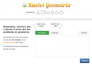 risolvere problemi di geometria online
