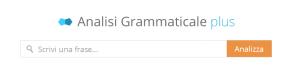 analisi grammaticale automatica online