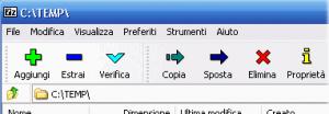 come creare file 7z