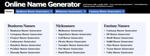 generatore di nomi online