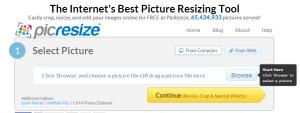 modificare dimensioni immagini online