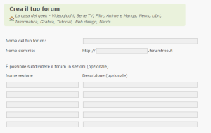 come creare forum gratis