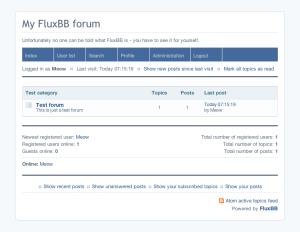 forum fluxbb