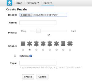 creazione puzzle