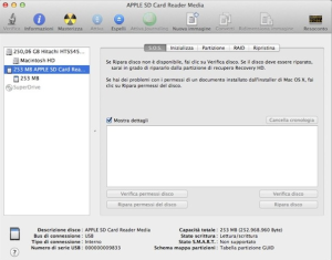 formattare scheda sd mac