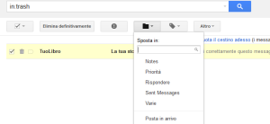 come recuperare mail cancellate